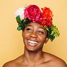 Sommer Gesichtspflege Blumen catch